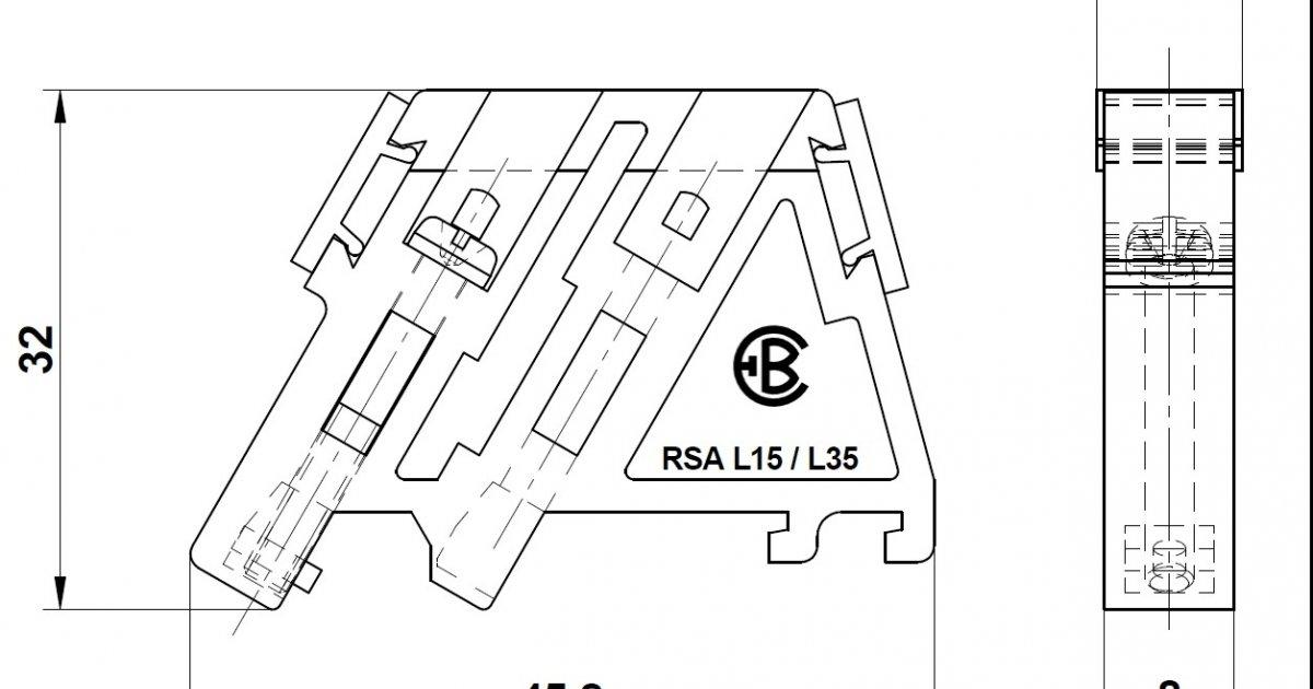 end clamp rsa l35 white